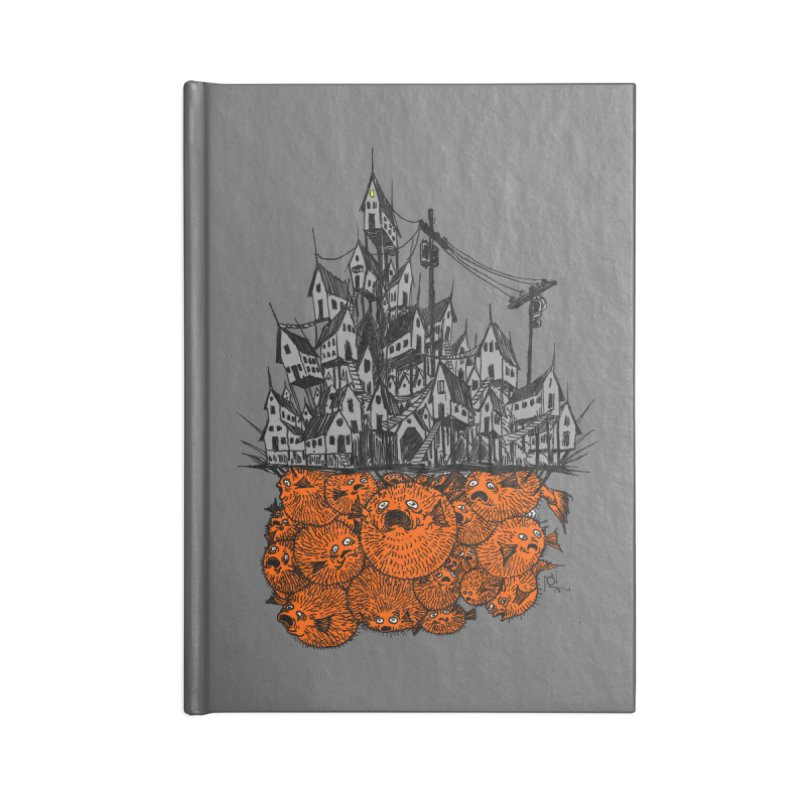 Pufferfish City Accessories Lined Journal Notebook by Nick the Hat