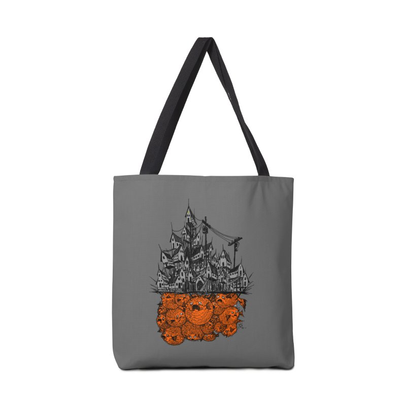 Pufferfish City Accessories Tote Bag Bag by Nick the Hat