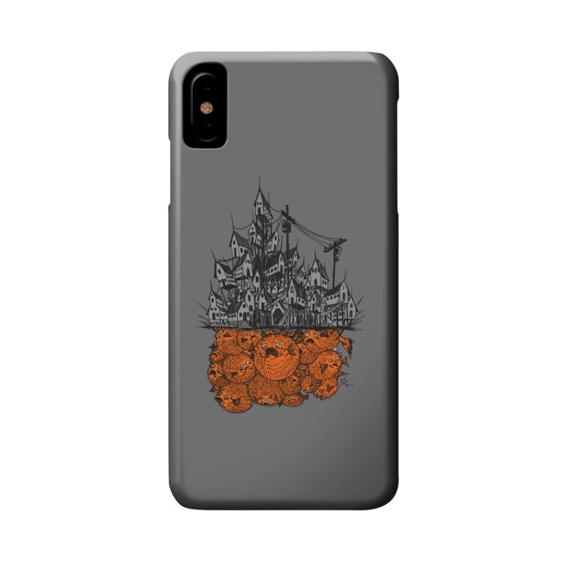 Pufferfish City Accessories Phone Case by Nick the Hat