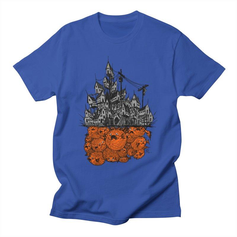 Pufferfish City Men's T-Shirt by Nick the Hat