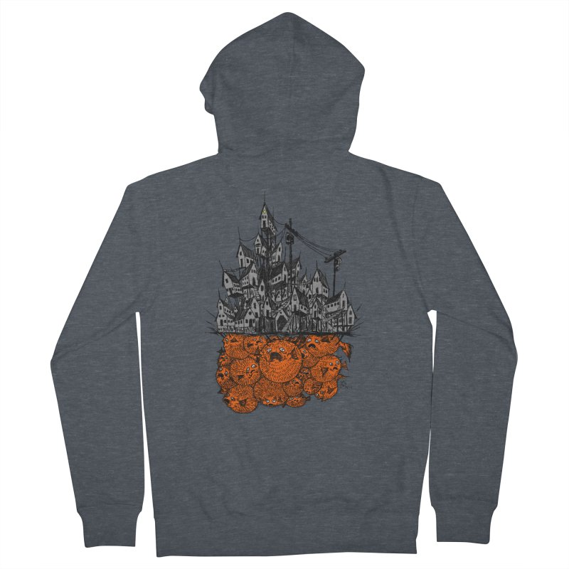 Pufferfish City Men's Zip-Up Hoody by Nick the Hat
