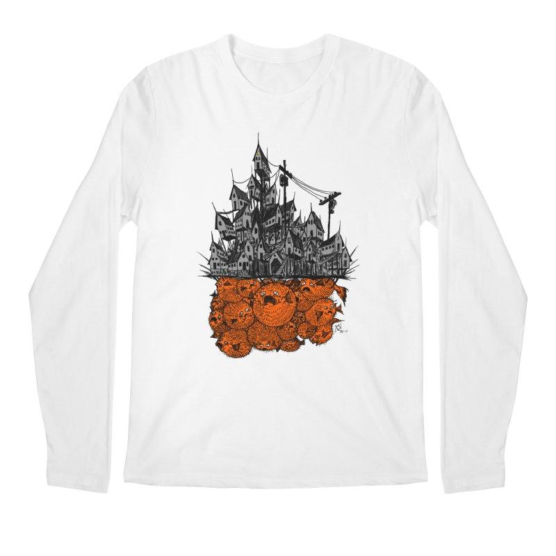 Pufferfish City Men's Longsleeve T-Shirt by Nick the Hat