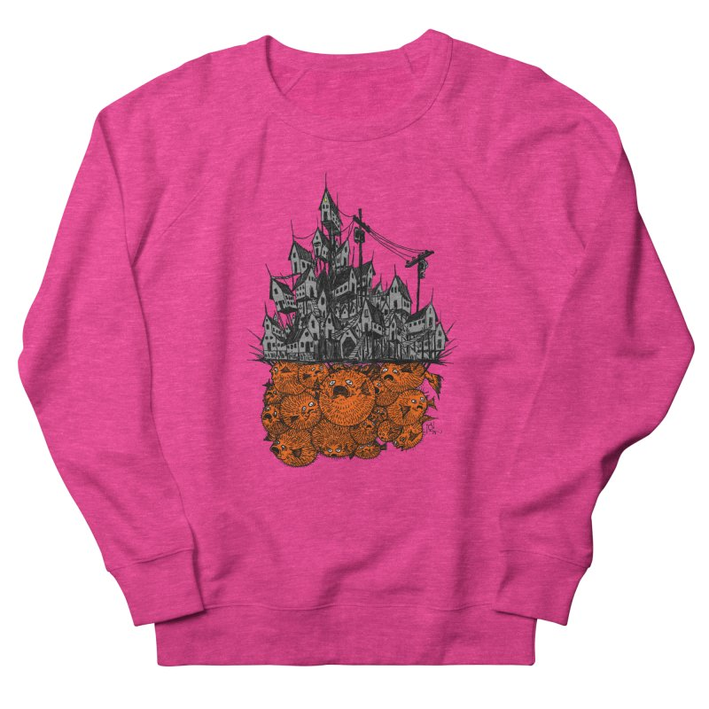 Pufferfish City Men's Sweatshirt by Nick the Hat