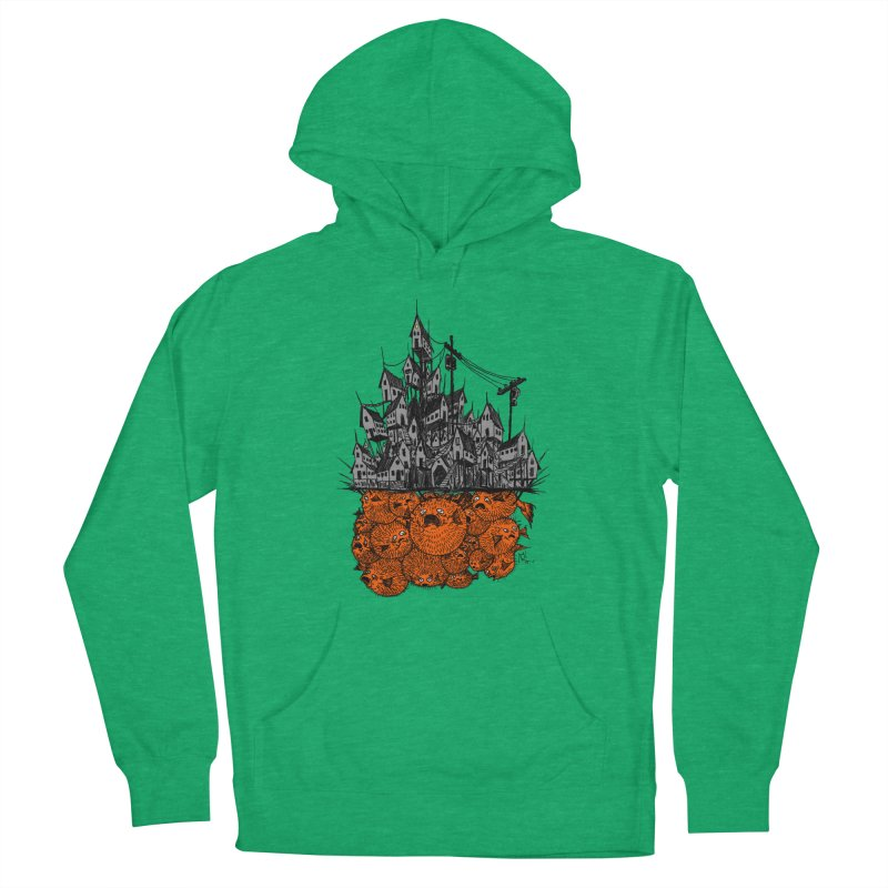 Pufferfish City Women's Pullover Hoody by Nick the Hat