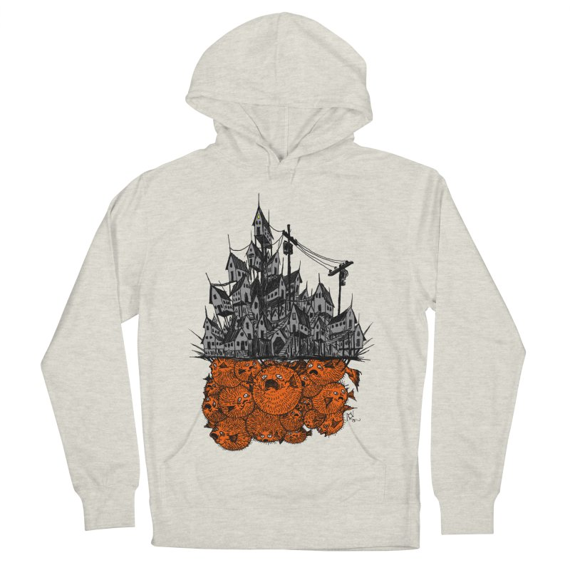 Pufferfish City Men's French Terry Pullover Hoody by Nick the Hat