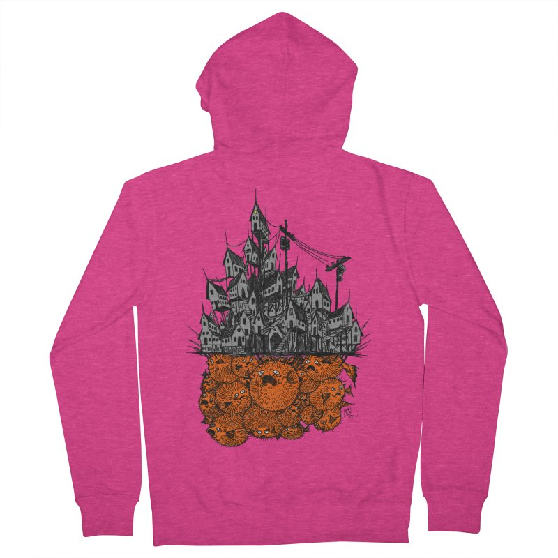 Pufferfish City Women's French Terry Zip-Up Hoody by Nick the Hat