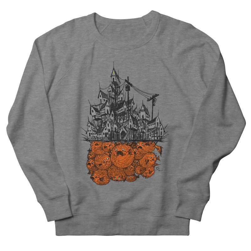 Pufferfish City Men's Sweatshirt by Nick the Hat
