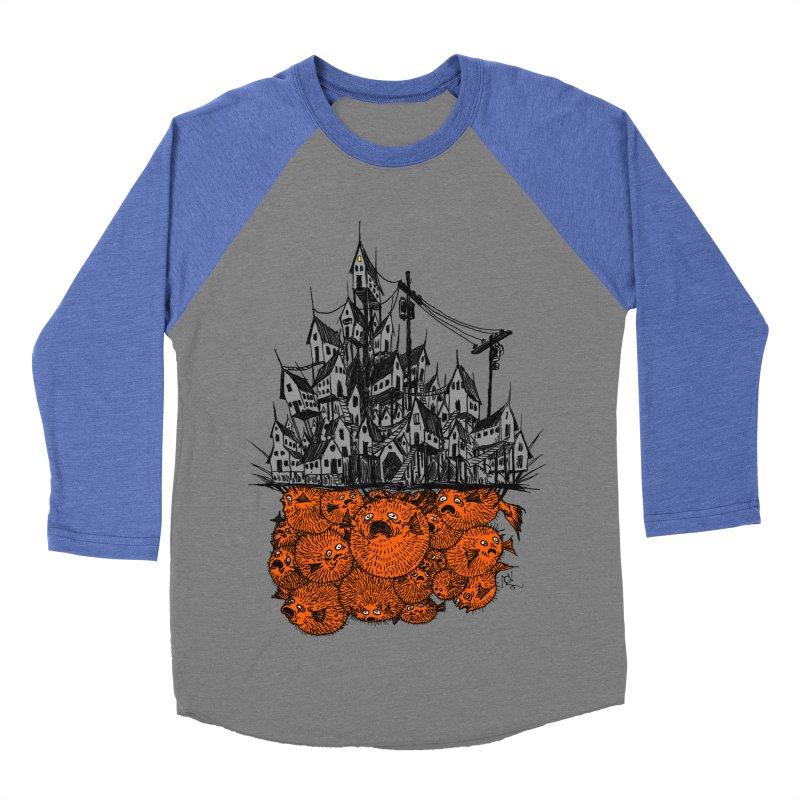 Pufferfish City Women's Baseball Triblend Longsleeve T-Shirt by Nick the Hat