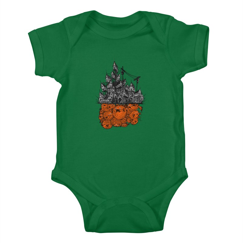 Pufferfish City Kids Baby Bodysuit by Nick the Hat