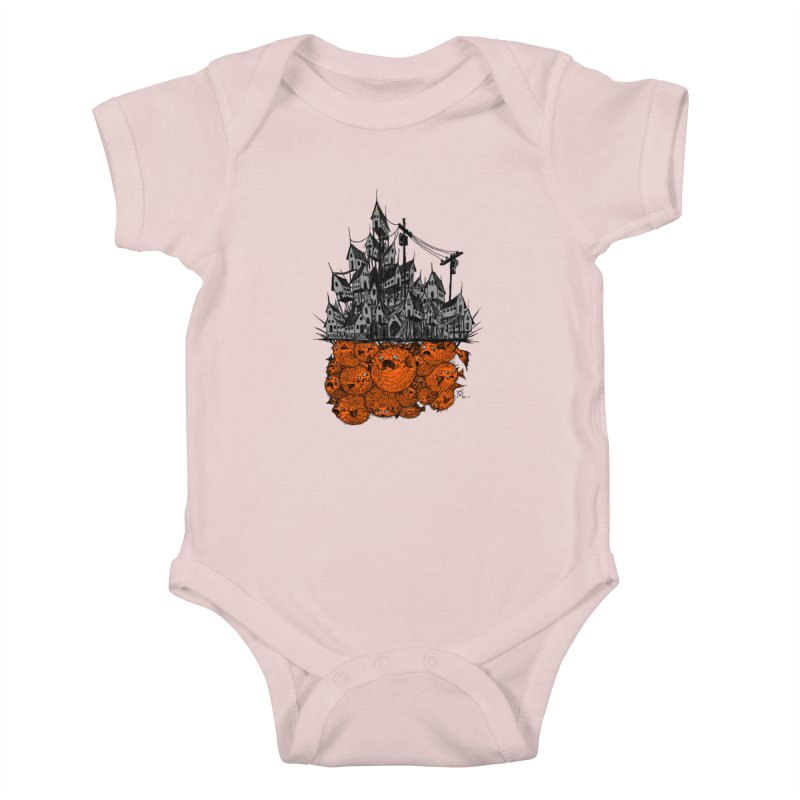 Pufferfish City Kids Baby Bodysuit by Nick the Hat