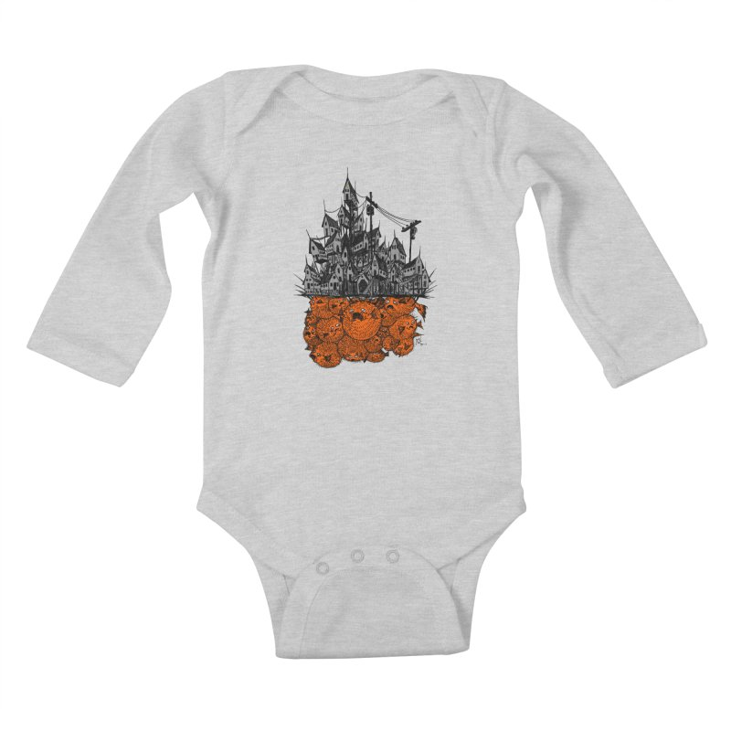Pufferfish City Kids Baby Longsleeve Bodysuit by Nick the Hat