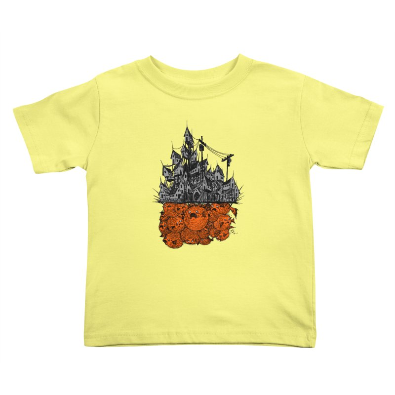 Pufferfish City Kids Toddler T-Shirt by Nick the Hat