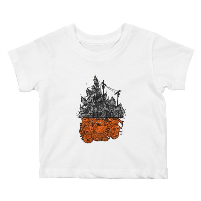 Pufferfish City Kids Baby T-Shirt by Nick the Hat