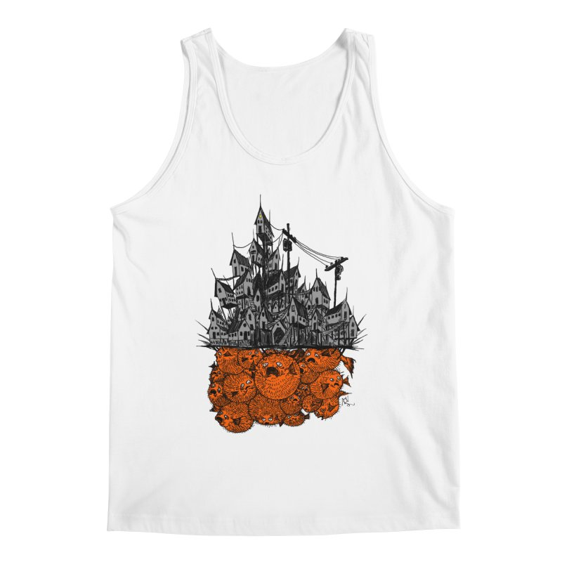 Pufferfish City Men's Tank by Nick the Hat