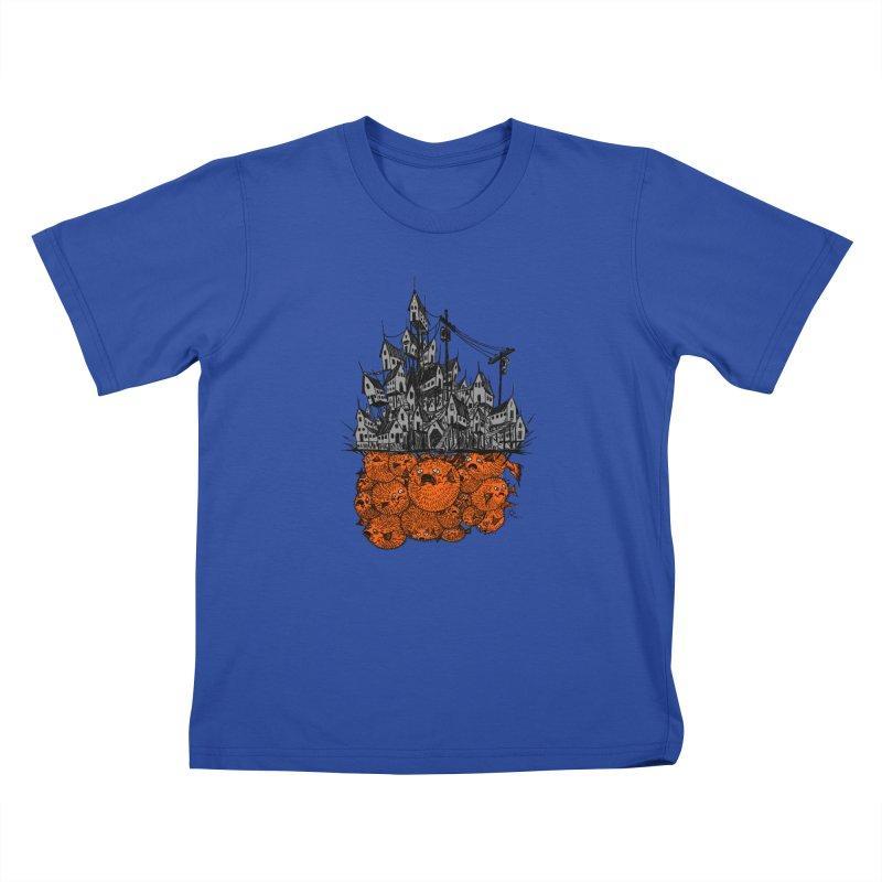 Pufferfish City Kids T-Shirt by Nick the Hat