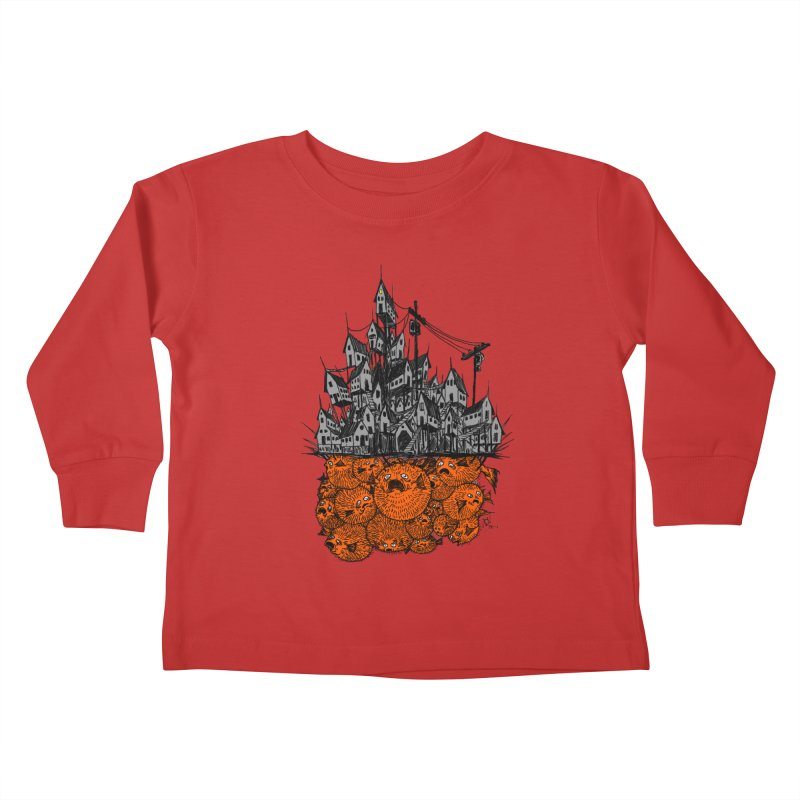Pufferfish City Kids Toddler Longsleeve T-Shirt by Nick the Hat