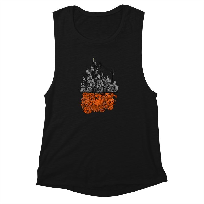 Pufferfish City Women's Muscle Tank by Nick the Hat