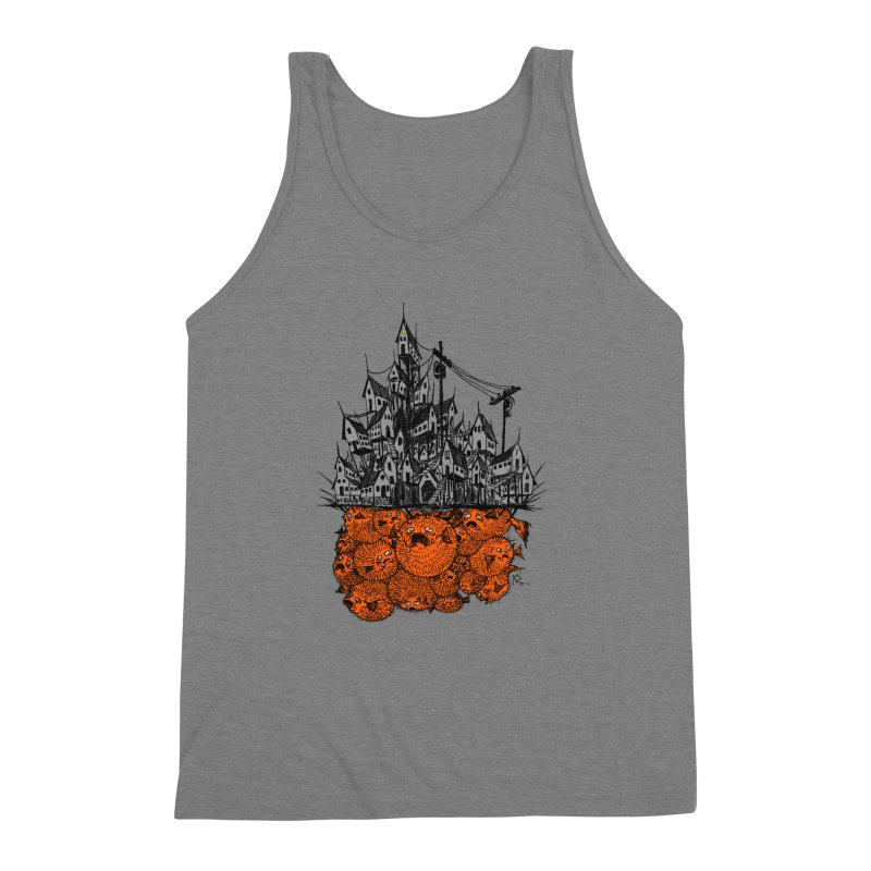 Pufferfish City Men's Triblend Tank by Nick the Hat