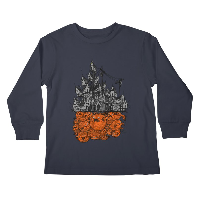 Pufferfish City Kids Longsleeve T-Shirt by Nick the Hat
