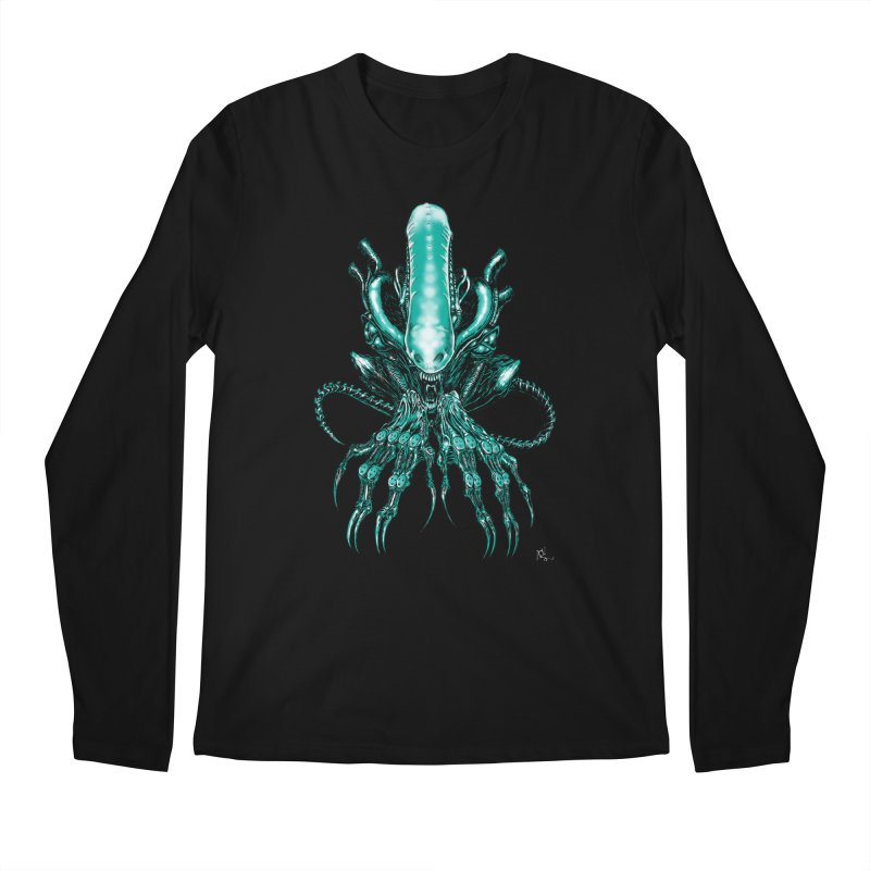 Xenomorph Men's Longsleeve T-Shirt by Nick the Hat