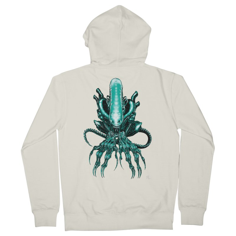 Xenomorph Women's French Terry Zip-Up Hoody by Nick the Hat