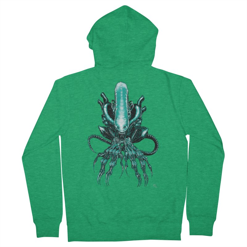 Xenomorph Men's Zip-Up Hoody by Nick the Hat