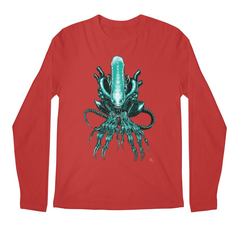 Xenomorph Men's Regular Longsleeve T-Shirt by Nick the Hat
