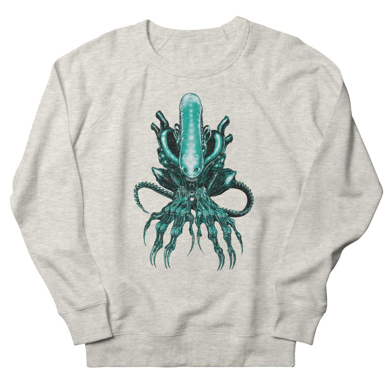 Xenomorph Men's French Terry Sweatshirt by Nick the Hat