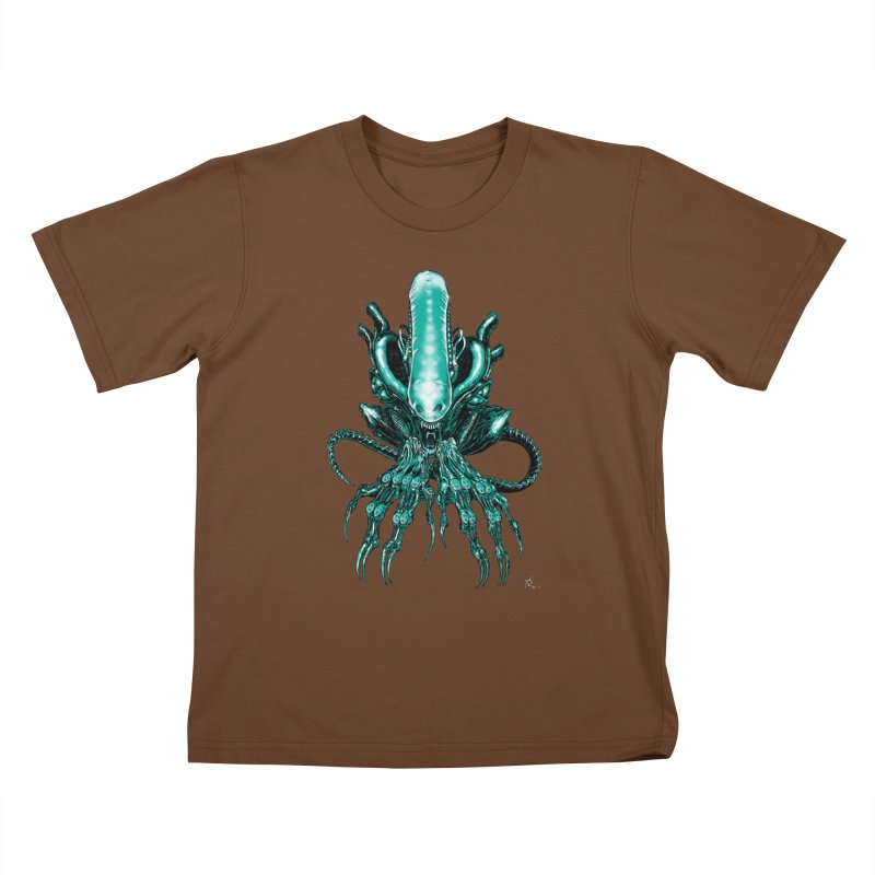 Xenomorph Kids T-Shirt by Nick the Hat