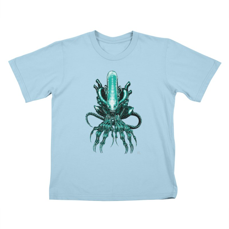 Xenomorph Kids T-Shirt by Nick the Hat