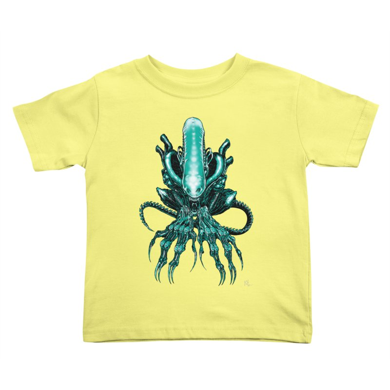 Xenomorph Kids Toddler T-Shirt by Nick the Hat