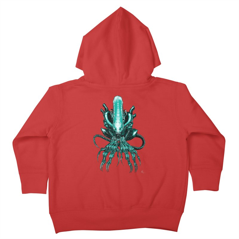 Xenomorph Kids Toddler Zip-Up Hoody by Nick the Hat