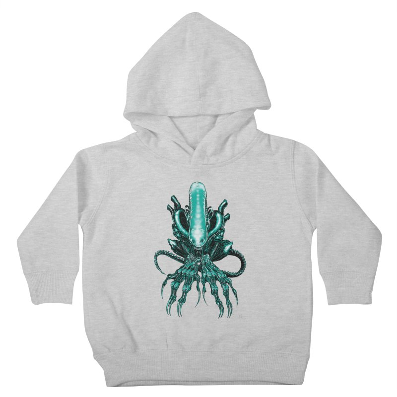Xenomorph Kids Toddler Pullover Hoody by Nick the Hat