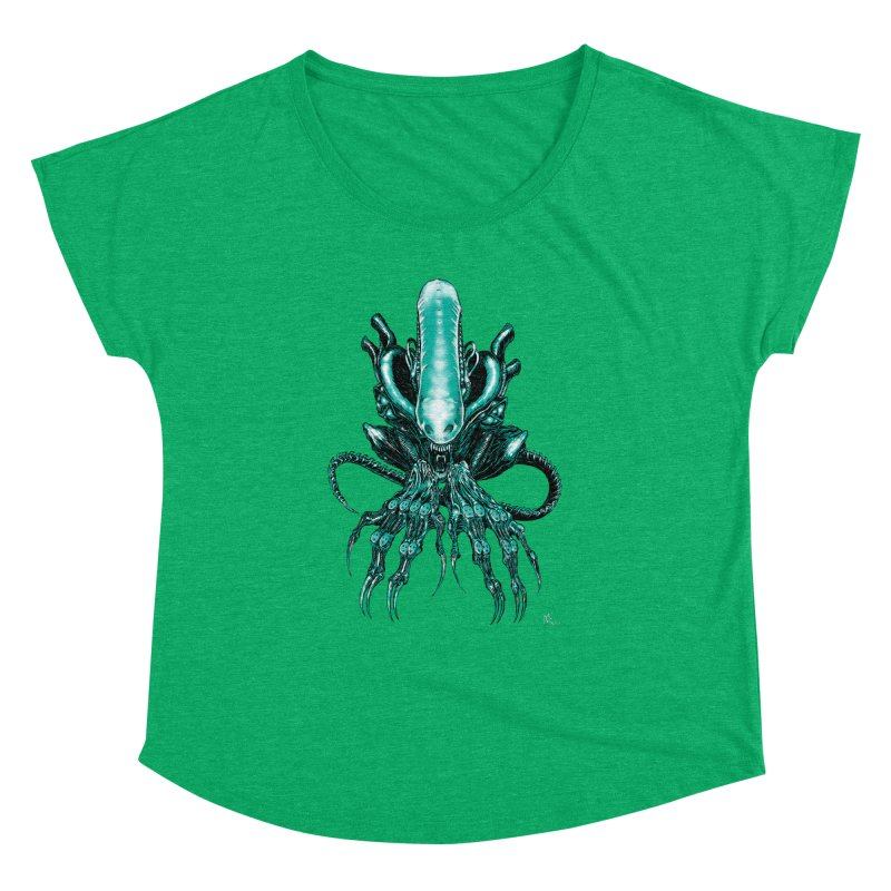 Xenomorph Women's Dolman Scoop Neck by Nick the Hat
