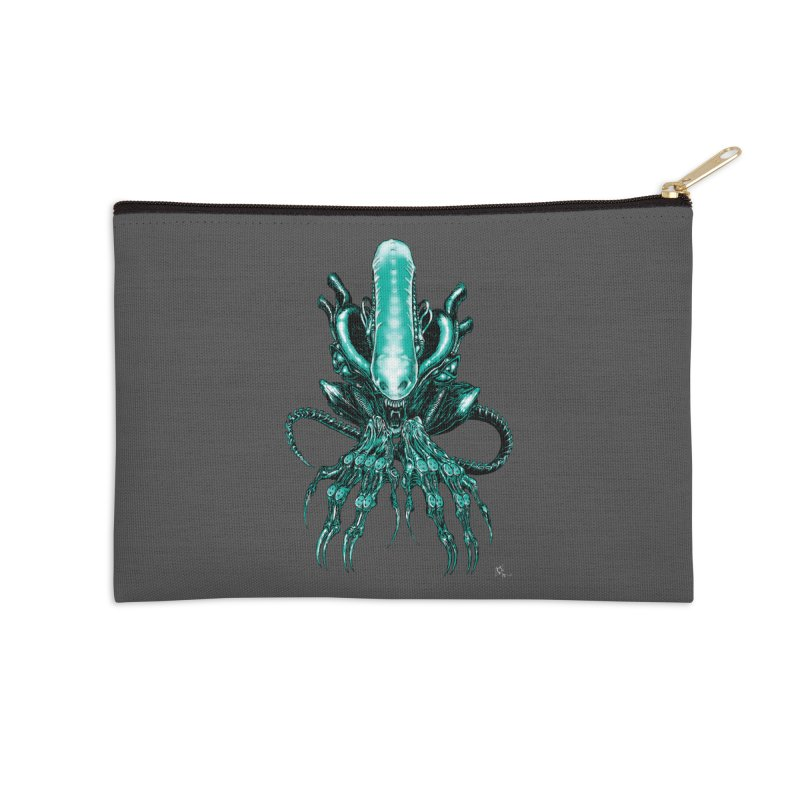 Xenomorph Accessories Zip Pouch by Nick the Hat