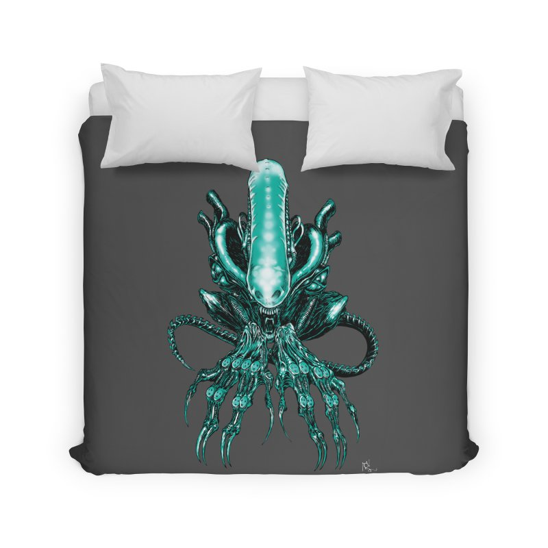 Xenomorph Home Duvet by Nick the Hat