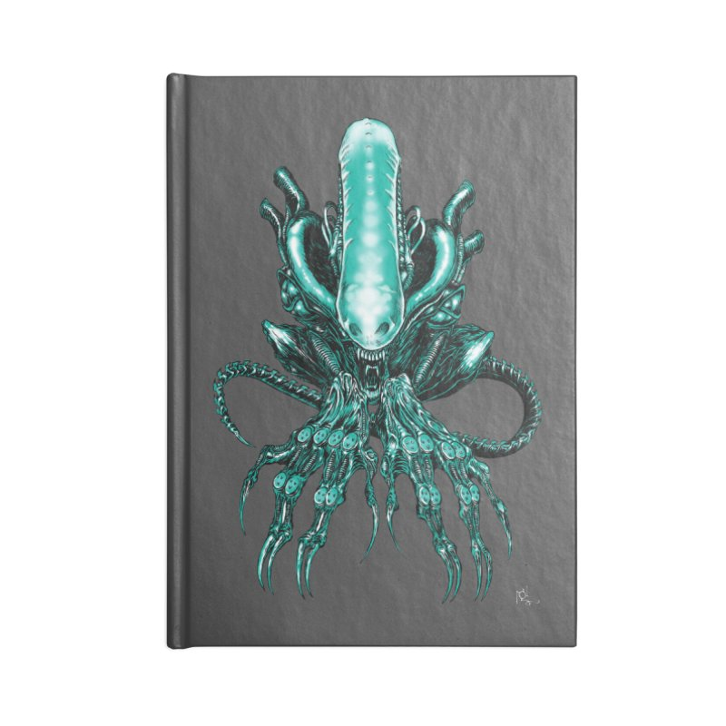 Xenomorph Accessories Notebook by Nick the Hat