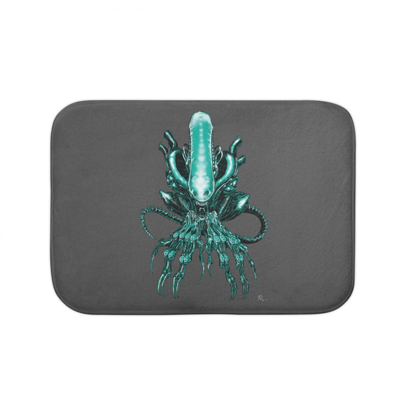 Xenomorph Home Bath Mat by Nick the Hat