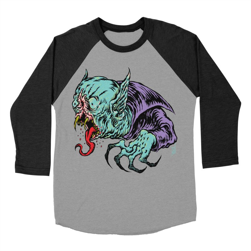 Savage Vampire Women's Baseball Triblend T-Shirt by Nick the Hat