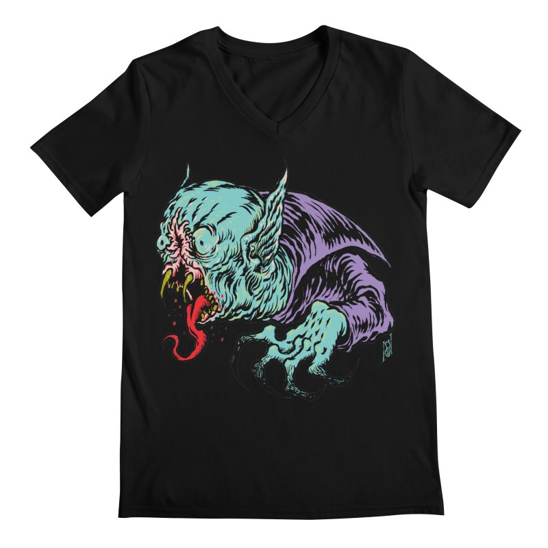 Blood Sucking Freak Men's Regular V-Neck by Nick the Hat