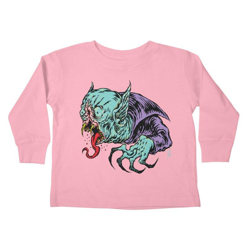 Blood Sucking Freak Kids Toddler Longsleeve T-Shirt by Nick the Hat