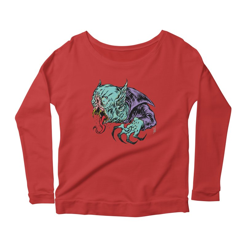 Blood Sucking Freak Women's Scoop Neck Longsleeve T-Shirt by Nick the Hat