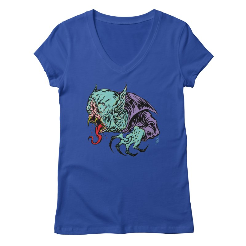 Savage Vampire Women's V-Neck by Nick the Hat