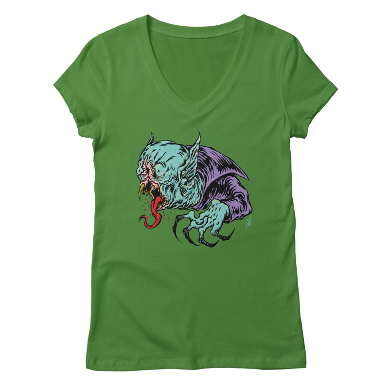 Blood Sucking Freak Women's V-Neck by Nick the Hat