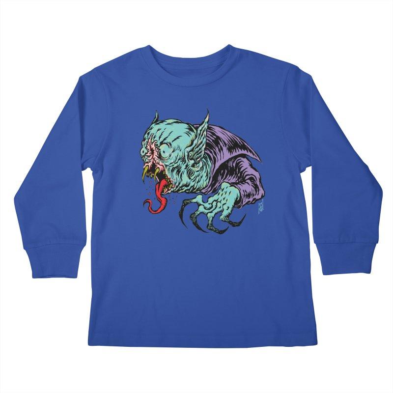 Savage Vampire Kids Longsleeve T-Shirt by Nick the Hat