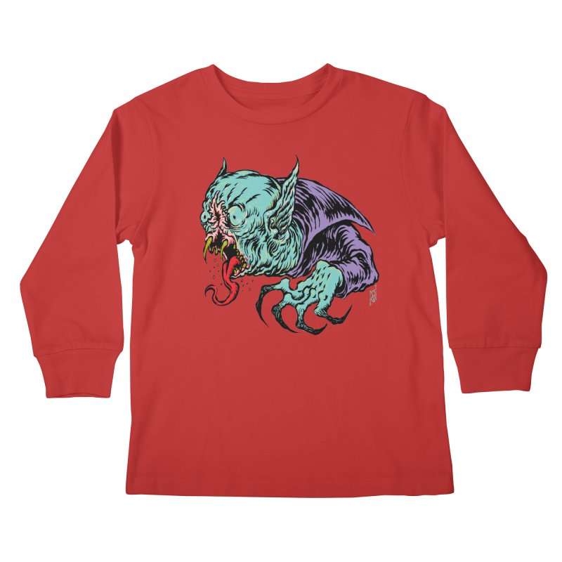 Savage Vampire Kids Longsleeve T-Shirt by Nick the Hat
