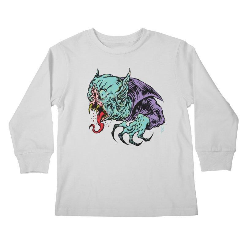 Blood Sucking Freak Kids Longsleeve T-Shirt by Nick the Hat