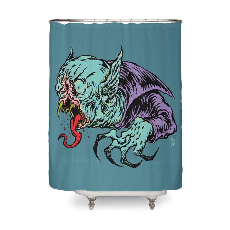 Savage Vampire Home Shower Curtain by Nick the Hat