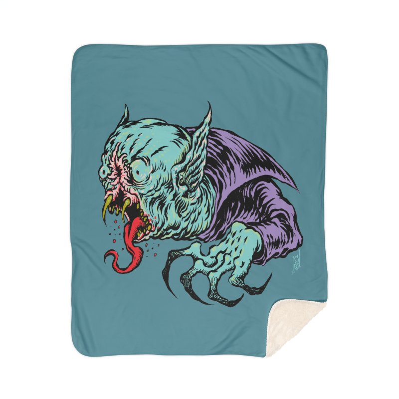 Blood Sucking Freak Home Sherpa Blanket Blanket by Nick the Hat