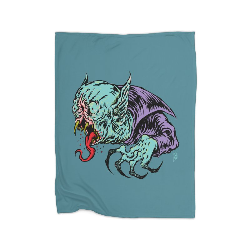 Blood Sucking Freak Home Fleece Blanket Blanket by Nick the Hat